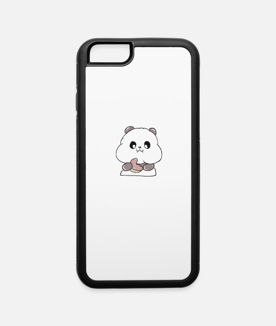 Donut iPhone Cases - Panda Food Donut - iPhone 6 Case white/black
