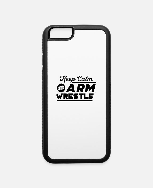 Arm Wrestling iPhone Cases - Arm Wrestling - iPhone 6 Case white/black