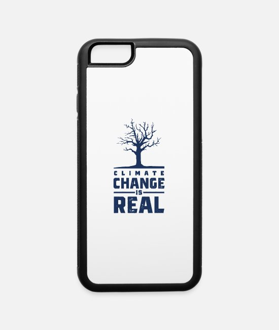 Earth iPhone Cases - Demo Planet Global Warming Climate Change Earth - iPhone 6 Case white/black