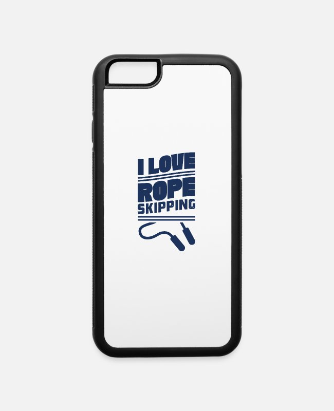 Rope Skipping iPhone Cases - Rope Skipping - iPhone 6 Case white/black
