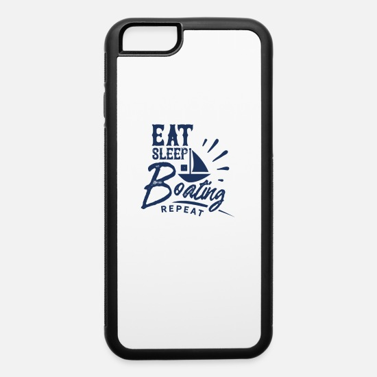 Boat iPhone Cases - Boating Crew Member Boating Trip Boat Captain - iPhone 6 Case white/black