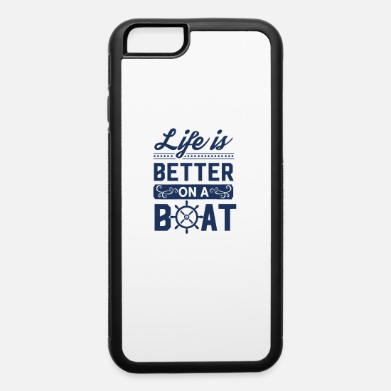 Boat iPhone Cases - Boating Trip Boat Boating Captain Crew Member - iPhone 6 Case white/black