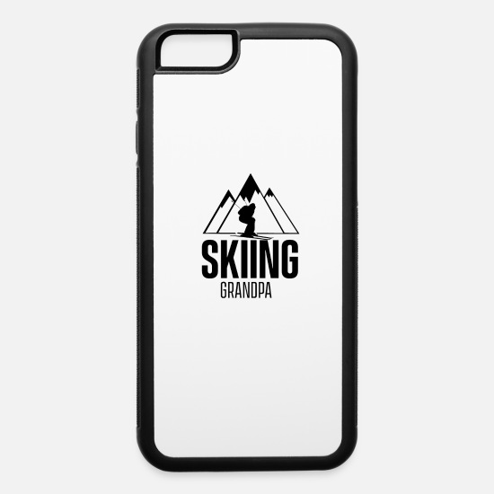 Grandad iPhone Cases - Skiing Grandpa - iPhone 6 Case white/black