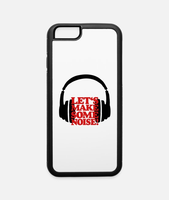 Headphones iPhone Cases - Let's make some Noise Headphones (black/red) - iPhone 6 Case white/black