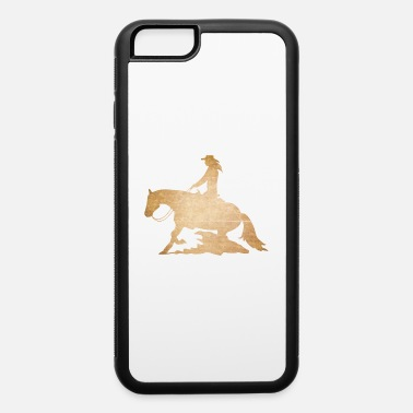 Cowboy Western Riding Reining Rider horse love gift - iPhone 6/6s Rubber Case