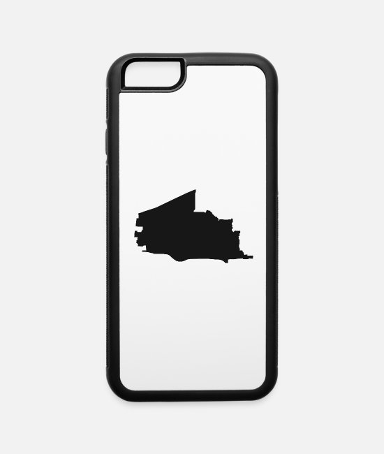 Usa iPhone Cases - Plano Texas city map black illustration silhouette - iPhone 6 Case white/black
