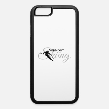 Vermont Ski Vermont Skiing Skier (Black&Gray) - iPhone 6 Case