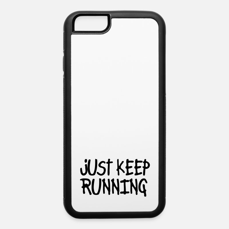 Athletics iPhone Cases - just keep running - iPhone 6 Case white/black