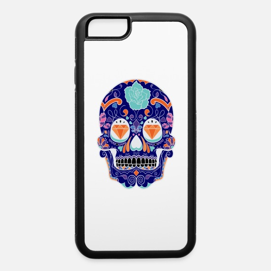 Wealth iPhone Cases - Sugar Skull - Diamonds Skull - iPhone 6 Case white/black