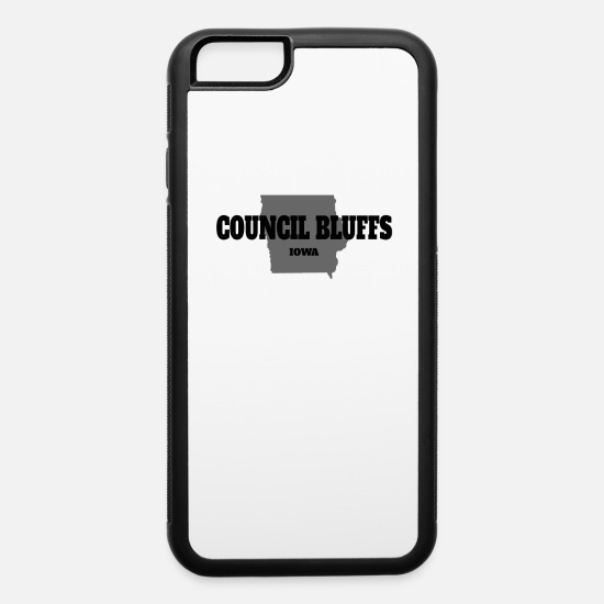 Baseball iPhone Cases - IOWA COUNCIL BLUFFS US STATE EDITION - iPhone 6 Case white/black