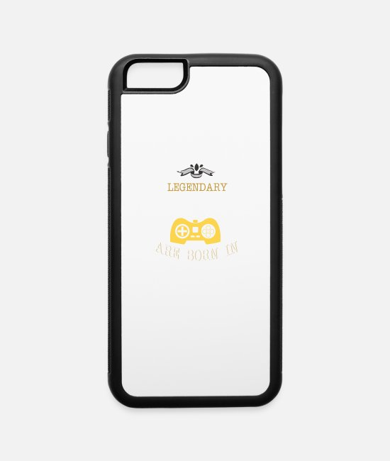 Legendary Since July 1974 iPhone Cases - Legendary Gamers Are Born In 1974 - iPhone 6 Case white/black