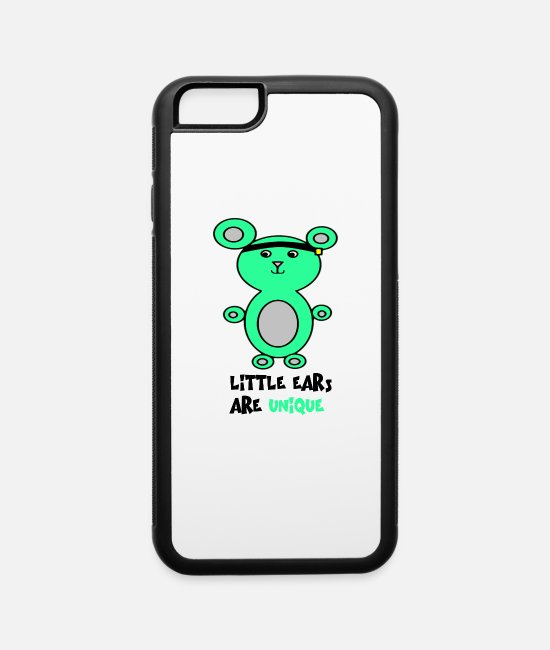Littleear iPhone Cases - Microtia Left-sided with aid - iPhone 6 Case white/black