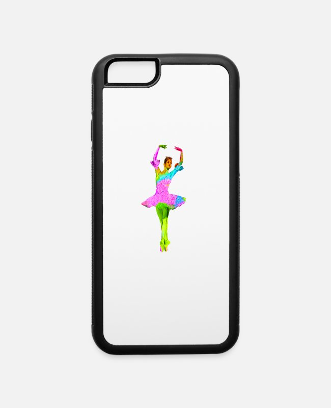 Ballet Dancer iPhone Cases - Colorful Ballerina - iPhone 6 Case white/black