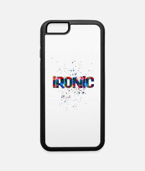 Artist iPhone Cases - ironic 1 - iPhone 6 Case white/black