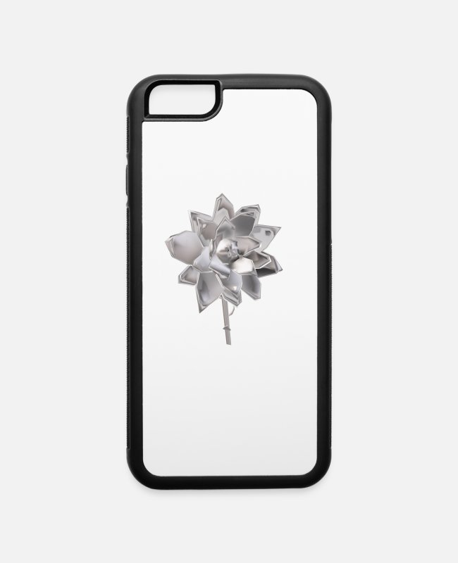 Be Yourself iPhone Cases - Flower in Perspective - iPhone 6 Case white/black