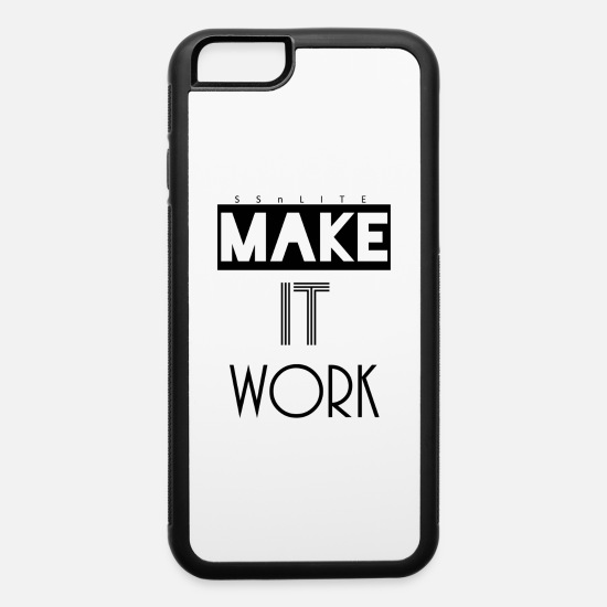 Christian Clothing iPhone Cases - MAKE IT WORK TEE - iPhone 6 Case white/black