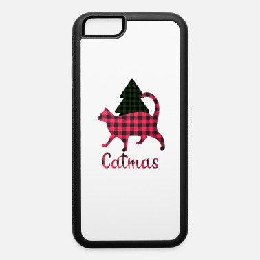 Christmas Catmas, christmas with a cat, plaid blanket - iPhone 6 Case