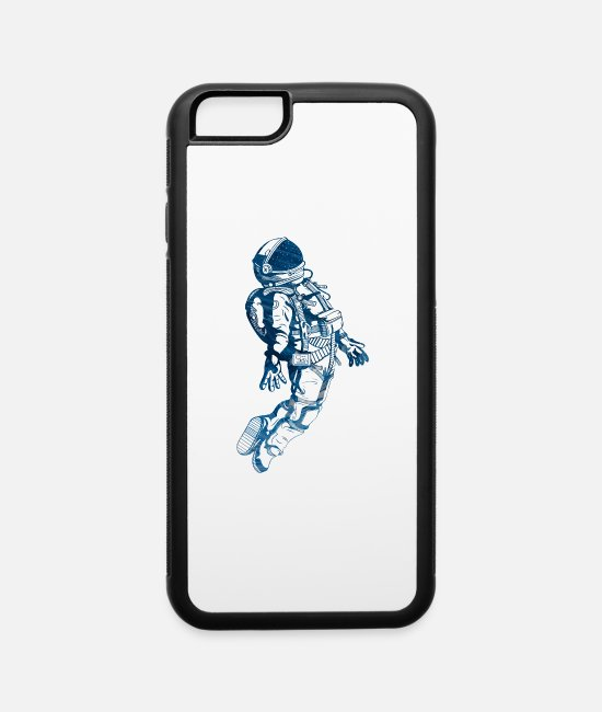 Space iPhone Cases - Astronaut Blue Space - iPhone 6 Case white/black