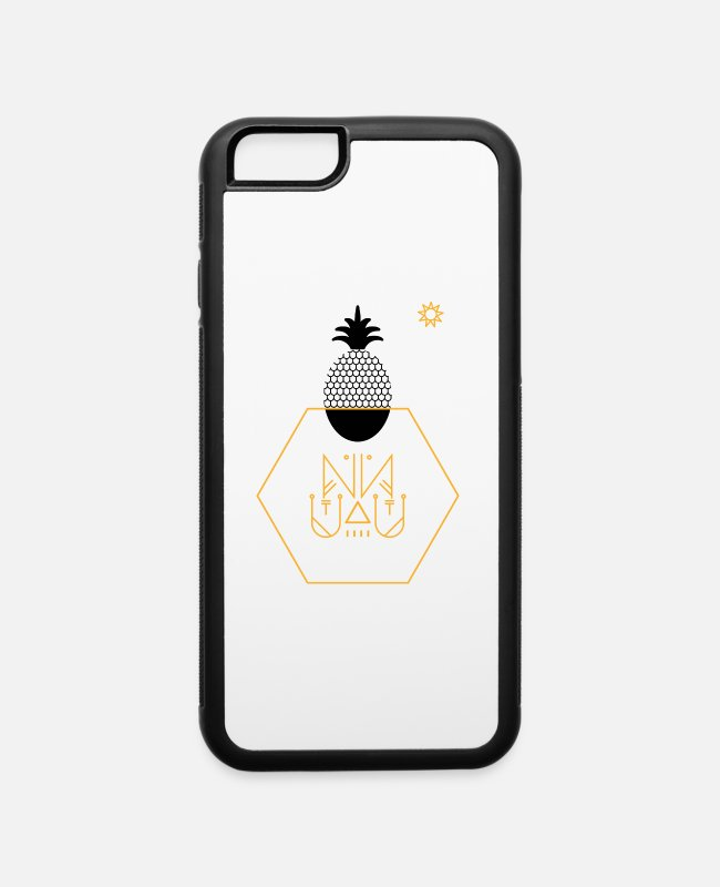 Artist iPhone Cases - pineapple summer hot grafic artist - iPhone 6 Case white/black