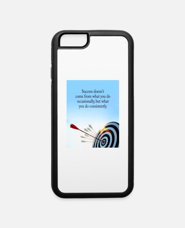 Arrow iPhone Cases - success comes what you do consistently - iPhone 6 Case white/black