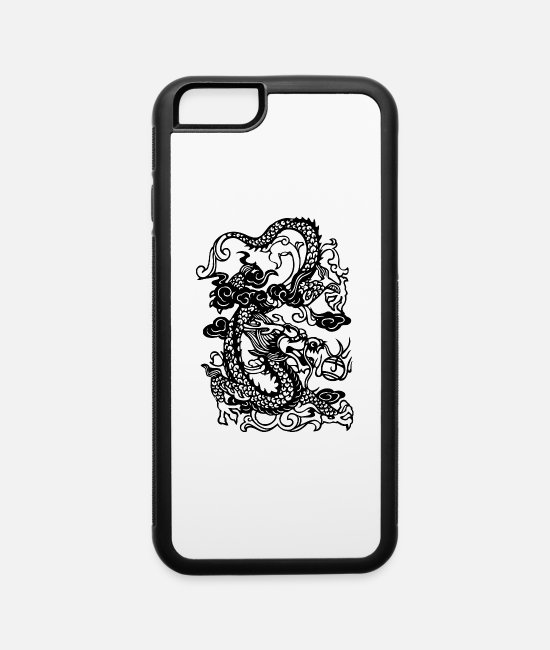 Japanese Dragon iPhone Cases - Dragon - Asian - Tattoo - Fantasy - iPhone 6 Case white/black