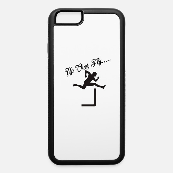 Track And Field iPhone Cases - Track and Field Hurdles, Up over Fly - iPhone 6 Case white/black
