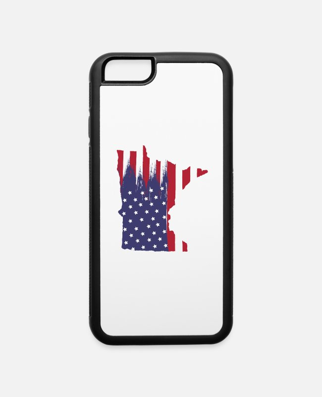 Usa iPhone Cases - minnesota strong - iPhone 6 Case white/black