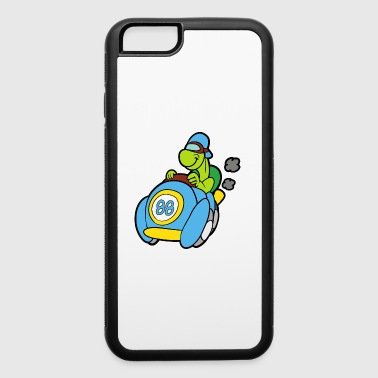 Finished Turtle Tortoise Race Car Racing Car Racer - iPhone 6/6s Rubber Case