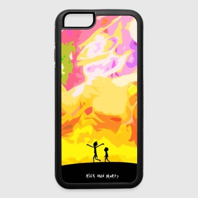 Rick and Morty Painting - iPhone 6/6s Rubber Case