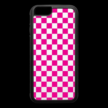 Pink Checkerboard - iPhone 6/6s Rubber Case