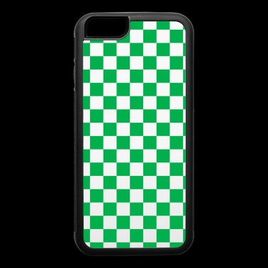 Green Checkerboard - iPhone 6/6s Rubber Case
