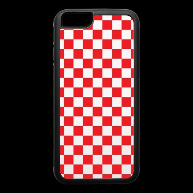 Red Checkerboard - iPhone 6/6s Rubber Case