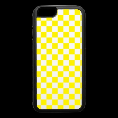 Yellow Checkerboard - iPhone 6/6s Rubber Case