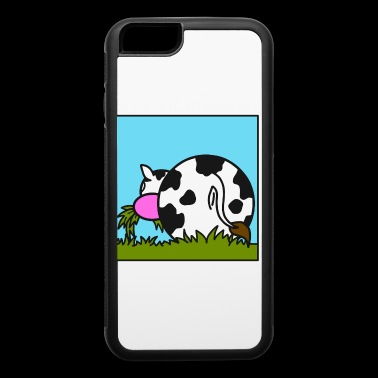 Cow eating grass gift present idea - iPhone 6/6s Rubber Case