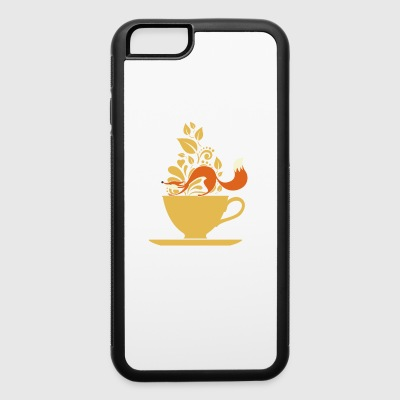 fox tea - iPhone 6/6s Rubber Case