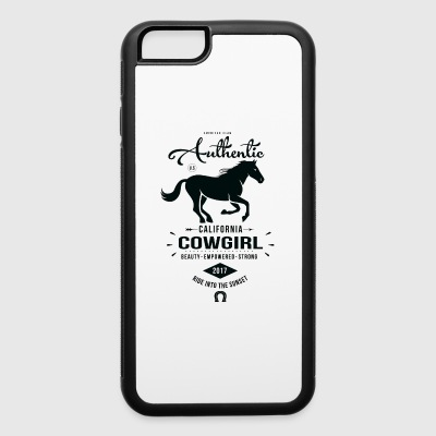Authentic California Cowgirl Design - iPhone 6/6s Rubber Case
