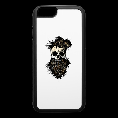 skull hipster bearded beard ring nose hairstyle - iPhone 6/6s Rubber Case