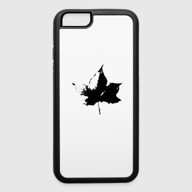 Fall Beijing Leaves black stencil - iPhone 6/6s Rubber Case