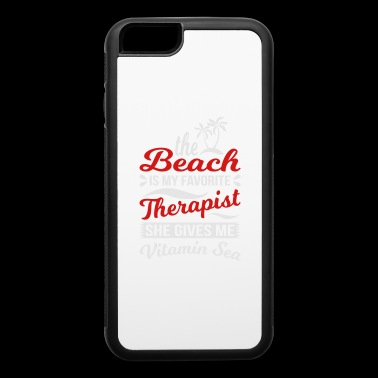 Beach Is Favorite Therapist - iPhone 6/6s Rubber Case