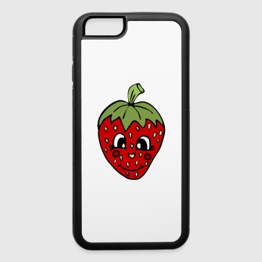 cute smiling strawberry fruit , cool gift idea - iPhone 6/6s Rubber Case