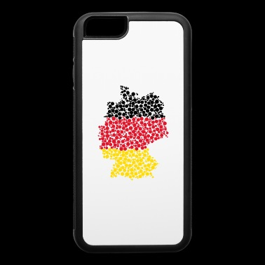 German map made of bubbles - iPhone 6/6s Rubber Case