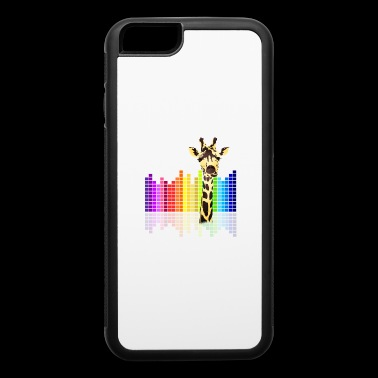 giraffe Farbe dJ Musik Skyline Techno Kids dab - iPhone 6/6s Rubber Case