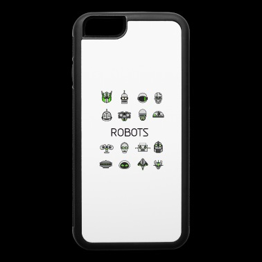 robots space man android nerd game comic men scifi - iPhone 6/6s Rubber Case