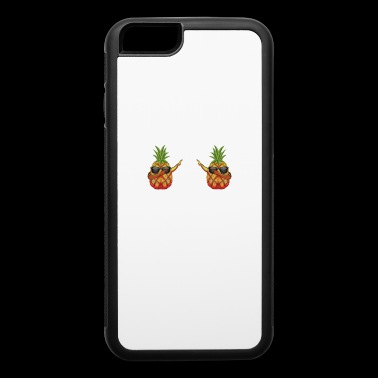 Funny dabbing Pineapple Boobs sunglasses girl gift - iPhone 6/6s Rubber Case
