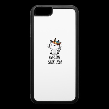 Caticorn Awesome Since 2002 16th birthday gift - iPhone 6/6s Rubber Case