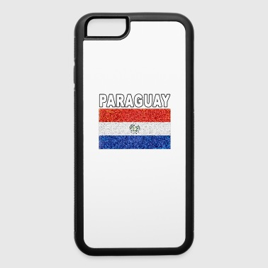 Paraguay flag stained glass effect unique design - iPhone 6/6s Rubber Case