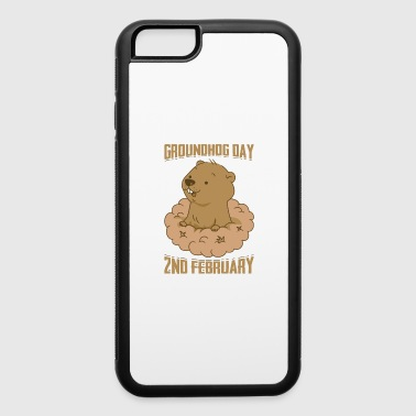 Groundhog Day 2nd February Cute Woodchuck Forecast - iPhone 6/6s Rubber Case