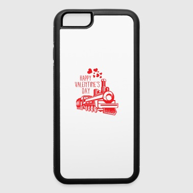Valentines Day Train Smoke Hearts Romantic Holiday - iPhone 6/6s Rubber Case