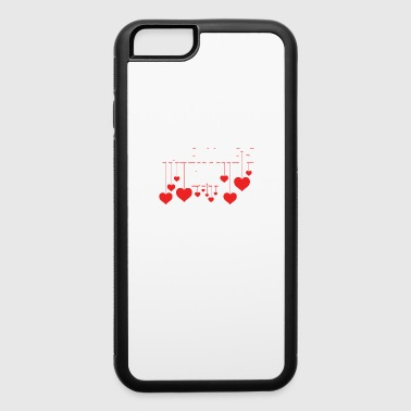 Valentine's Day Hanging Hearts Romantic Holiday - iPhone 6/6s Rubber Case