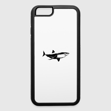 Shark Nerd Funny Water Animal Lover Humor Graphic - iPhone 6/6s Rubber Case